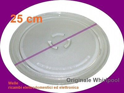 Whirlpool Microwave Glass Turntable Plate Clear 254mm 481246678412 Original