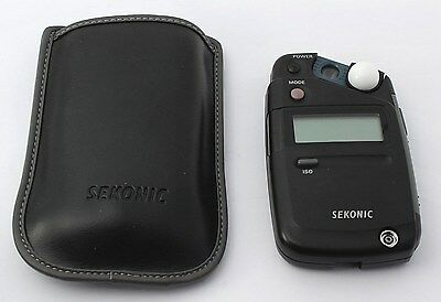 【NEAR MINT!!!】 Sekonic Model L-308B Flashmate Light Meter w/ Case from Japan