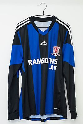 Adidas long sleeved Middlesbrough away shirt Size L *new without tags*