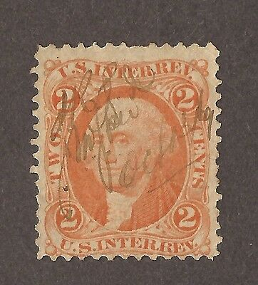 1862 To 1871 Revenue Stamp Us. Int. Rev 2 Cents Stamp