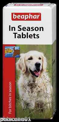 Sherleys Beaphar Anti Mate / In Season Tablets for dogs in season  30 tabs
