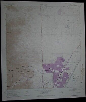 North Franklin Mountain Texas Fort Bliss vintage 1974 old USGS Topo chart