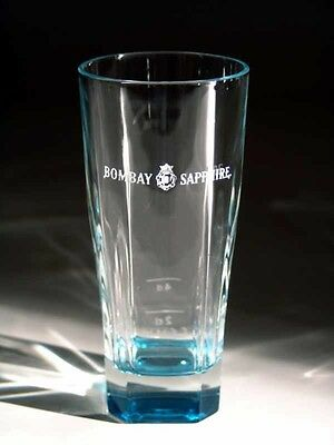 Bombay Sapphire Gin  Blue Tinted Glass  - Etched 'bombay Sapphire'