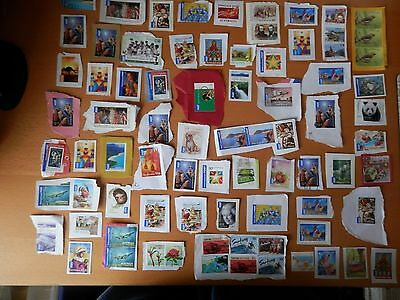 Joblot Of 75 Used Stamps On Paper From Australia.
