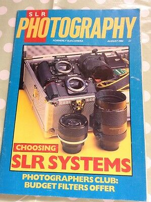 "VINTAGE PHOTOGRAPHY MAGAZINE ""SLR CAMERA""  August 1986 Photography"