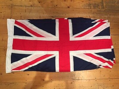 UNION JACK FLAG BRITISH MADE  stitched Approx 6ft  x 3ft