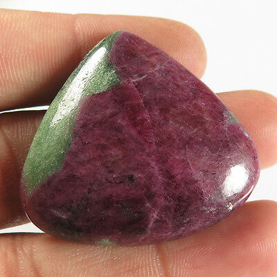 Natural RUBY ZOISITE 36x39 mm FANCY CABOCHON Good Quality Gemstone 111.20 Cts