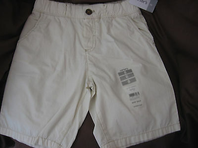 $20 NWT Carter's Boys SIZE 8 Shorts KHAKI Beige STRETCH WAIST