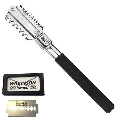 PRO HAIR SHAPER THINNING LAYER HAIR CUTTING RAZOR STEEL+WILKINSON 5 blades THR11