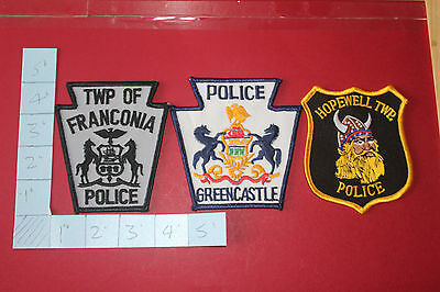 3 Shoulder Patches from Pennsylvania police Departments