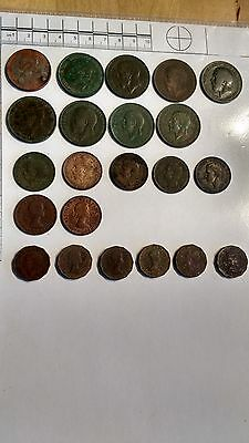 22 old english coins collection coin