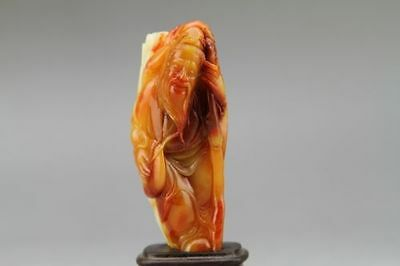 Natural shoushan stone carved statues