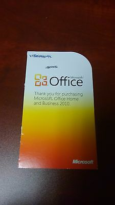 Microsoft Office 2010 Home and Business License Key Card Windows