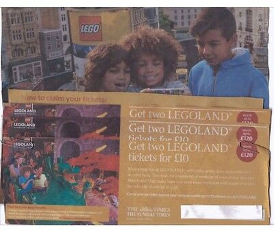 legoland offer 2 tickets worth up to £120 for £10