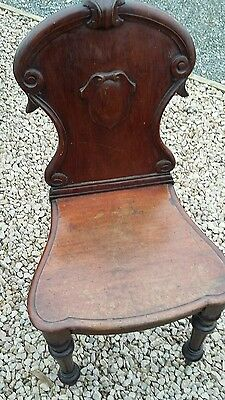 edwardian carved back hall chair