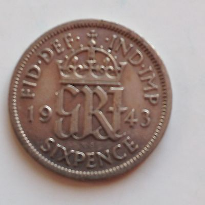 Silver Sixpence 1943