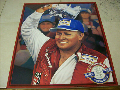 Cale Yarborough Busch Beer  Poster