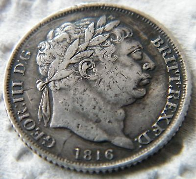 COIN: 1816 King George III, Silver Sixpence (0.925) Sterling, A Very Nice Coin.