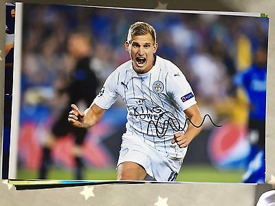 Marc Albrighton Leicester City Fc Foxes Hand Signed 12X8 Photo
