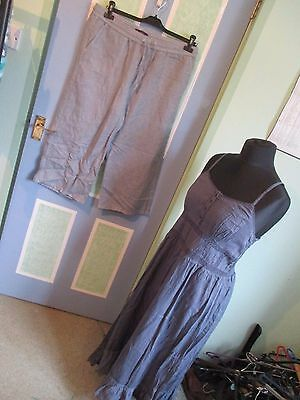 Bundle Of 2 Items Of Ladies Clothes, Size 16, Crops/dress, M&s/papaya, Exc-Con