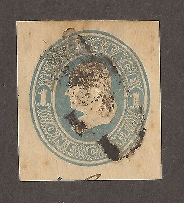 1853 To 1893 United States Envelope Embossed Stamps 1 Cent Light Blue