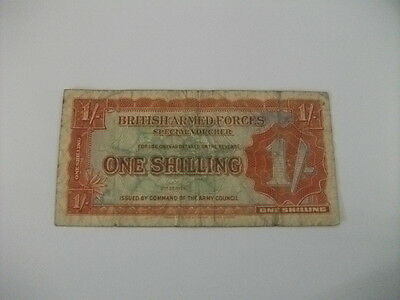 British Armed Forces Special Voucher One Shilling Banknote 2nd Series