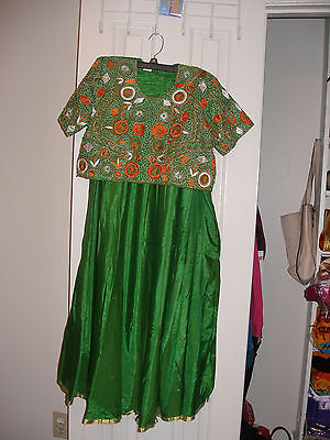 Bollywood 3 pc Chaniya choli with pearl and embrodery Eid, party