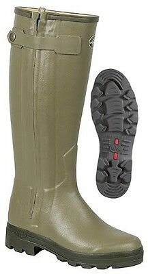 Le Chameau-Chasseur-Leather Lined Rubber Wellington Boots-INCLUDES FREE GIFT!!