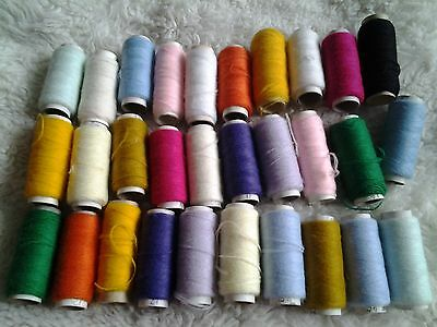 cotton yarn x 30 reels, sewing craft etc