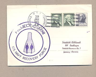 United States 1965 Special Used card .Space Gemini US NAVY .See scan.