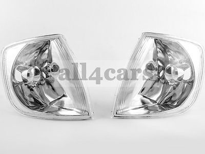 Vw Polo 6N2 1999 - 2001 Front Crystal Clear Indicator Repeater Pair