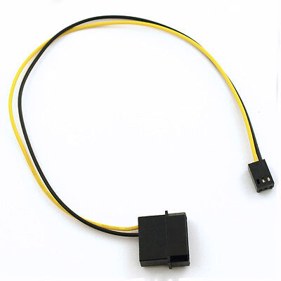 """4-Pin Molex/IDE  to 3-Pin CPU/Chasis/Case Fan Power Connector Cable Adapter 12"""""""
