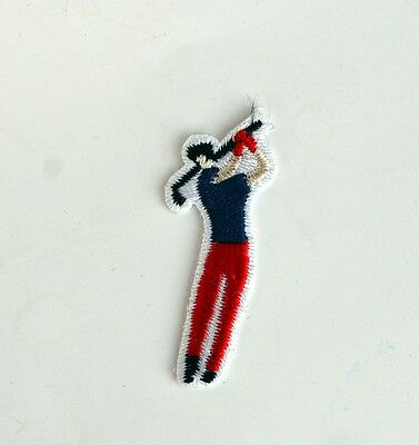 """GOLF - Golfer Patch New Old Stock - Sew On - FREE & Fast Shipping! 4.5cm 1.8"""""""
