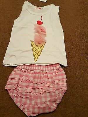 girls 9-12 months top, pant knickers bnwt