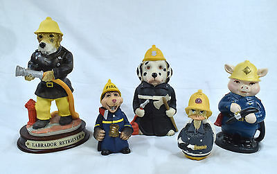 The Fire Crew 5 Animal based Firefighters