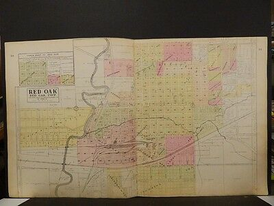 Iowa, Montgomery County Map, 1907 Red Oak, Double Page J5#48