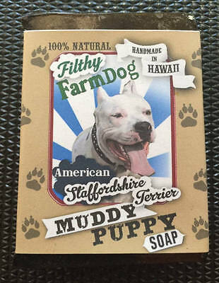 American Staffordshire Terrier / Bar of Dog Soap / Fun Graphics / Unique Gift /