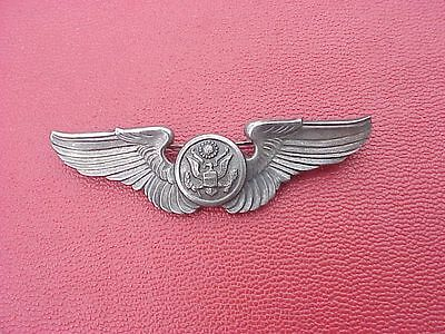 Original Wwii Full Size Usaaf Aircrew Wings / Insignia - Pinback