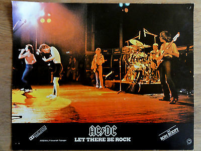 Aushangfoto AC/DC LET THERE BE ROCK 1977 Bon Scott Angus Young