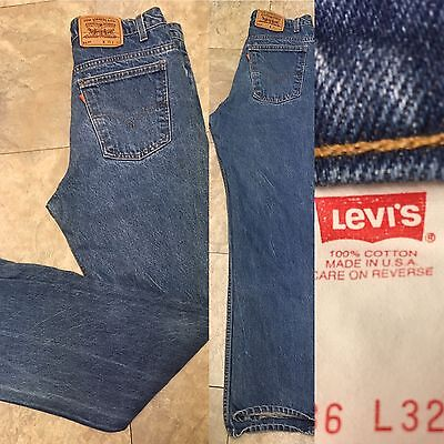 "Vintage Levi's 517 Jeans Orange Tab Made In USA Sz 36 32 (34"" Waist)"