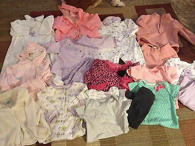 20 piece lot Baby Girl Size 9 MONTHS mixed clothing Pants, outfits, EUC