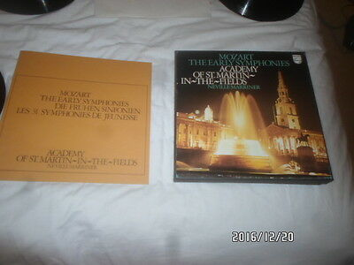 a 8 lp vinyl record box set mozart the early symphonies academy of st martin in