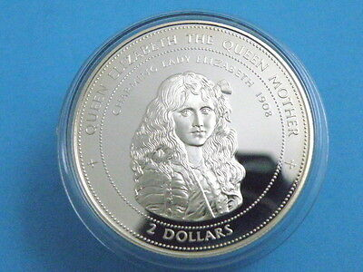 BAHAMAS - 1997 SILVER PROOF TWO DOLLARS COIN - Charming Lady Elizabeth 1908