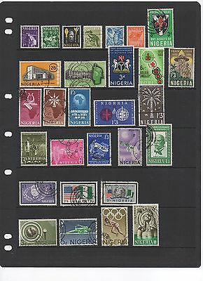 Nigeria. Selection incl. SG129,130,98,99,159 etc. Total of 29 stamps. G-FU.