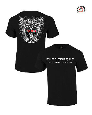 """""""Pure Tourque, Vic 106"""" Black Shirt for Victory Motorcycle Riders"""