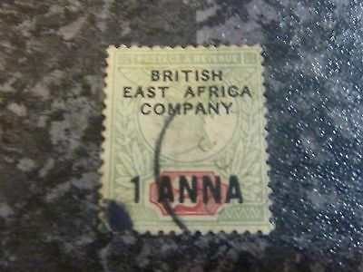 British East Africa Company Postage Revenue Stamp Sg2 1A On 2D Fine Used