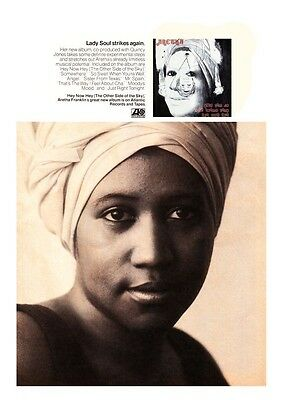 Aretha Franklin POSTER - Hey Now ALBUM Promo - The QUEEN of Soul  Wall Art Print