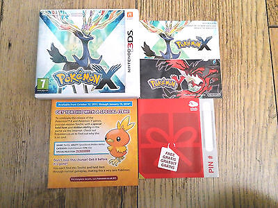 *no Game* Pokemon X Version Case & Instructions Only Nintendo 3Ds / 2Ds