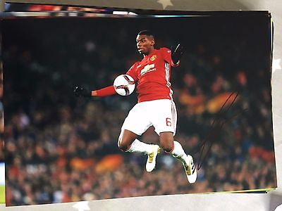 Paul Pogba Manchester United Fc Red Devils Hand Signed 12X8 Photo