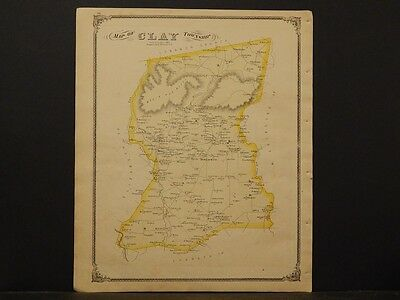 Pennsylvania Lancaster Cty, Clay Township  Double Sided 1875 K6#08
